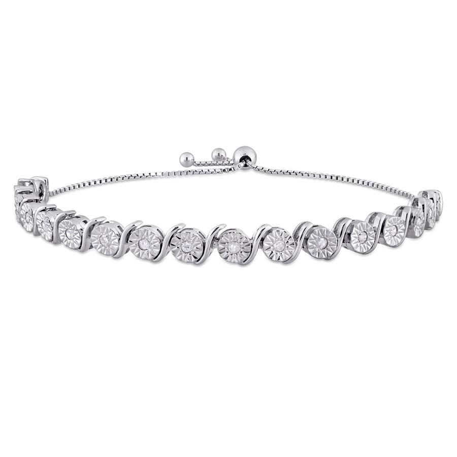 7bdb1e731dfa2f 1/2 CT TW Diamond Bolo Bracelet in Sterling Silver JMS004828 - Amour ...
