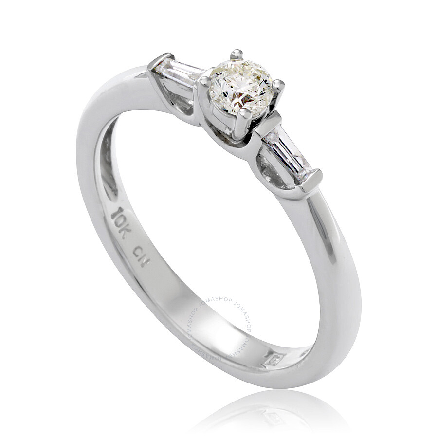 1/3 CT Tapers And Round Diamonds TW Engagement Ring 10k