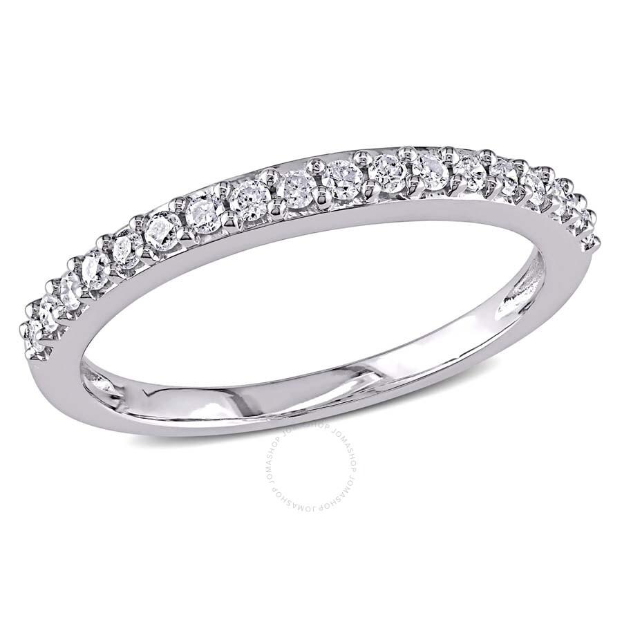 1 4 Ct Diamond Tw Stacked Ring 10k White Gold Gh I2 I3