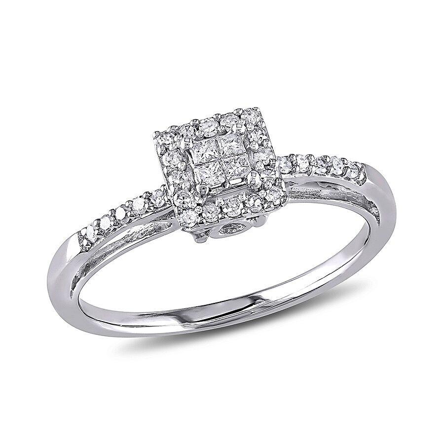1//5 cttw, Size-12.5 Diamond Wedding Band in 10K White Gold G-H,I2-I3