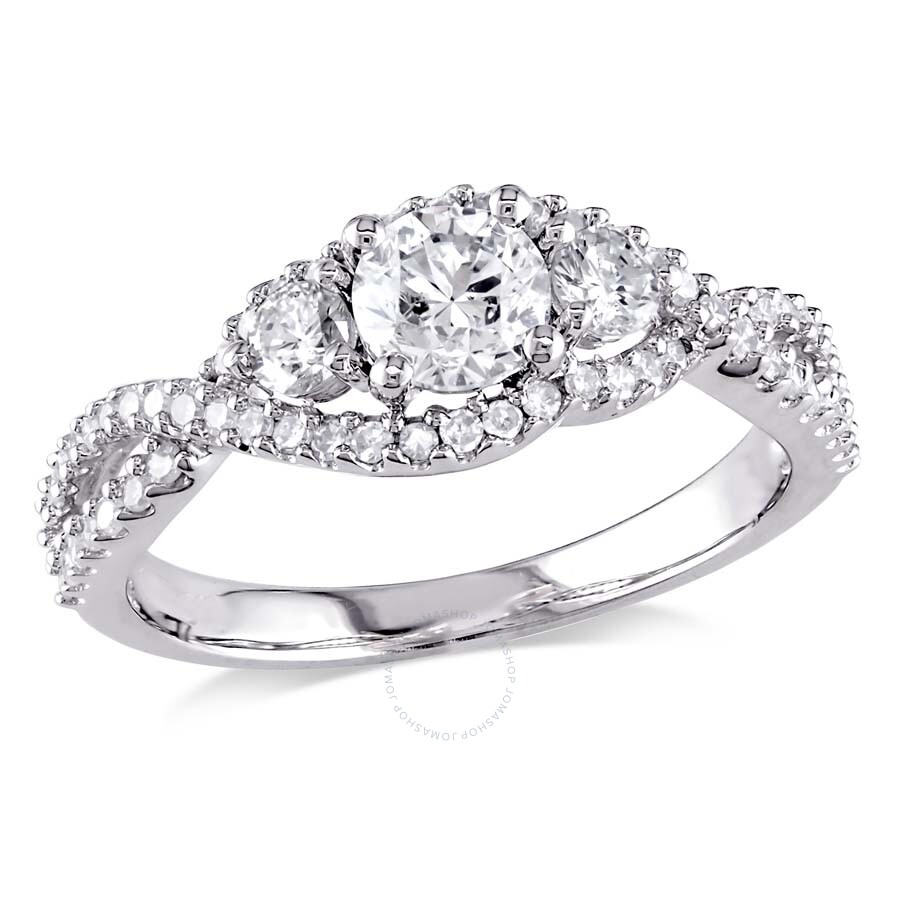 29075cc5c31ef 1 CT TW 3-Stone Diamond Engagement Ring in 14k White Gold JMS004813-0900-  Size 9