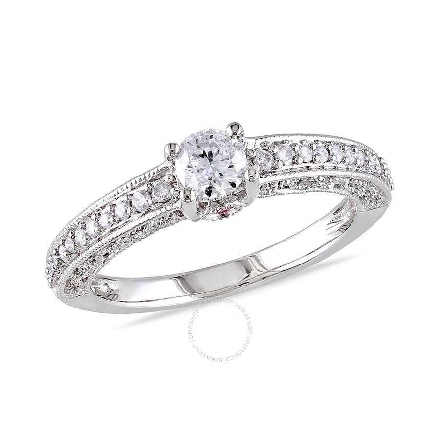 1 2 ct diamond tw and ct tgw pink sapphire fashion. Black Bedroom Furniture Sets. Home Design Ideas