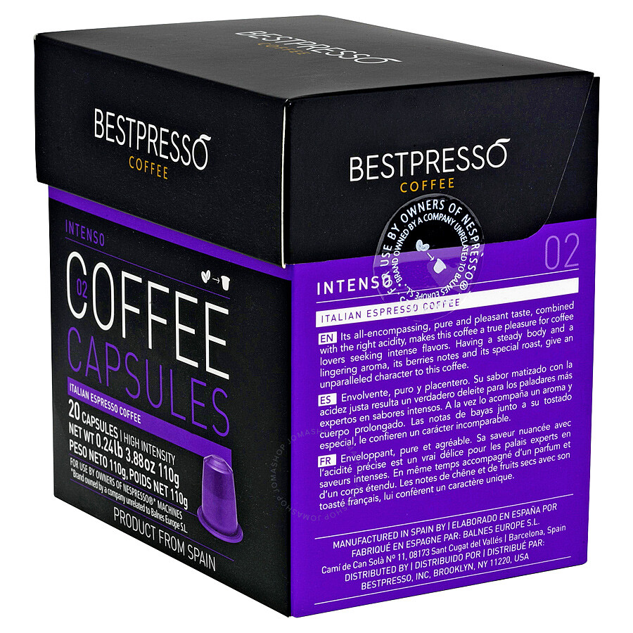 20 bestpresso nespresso compatible gourmet coffee capsules nespresso pods alternative intenso. Black Bedroom Furniture Sets. Home Design Ideas