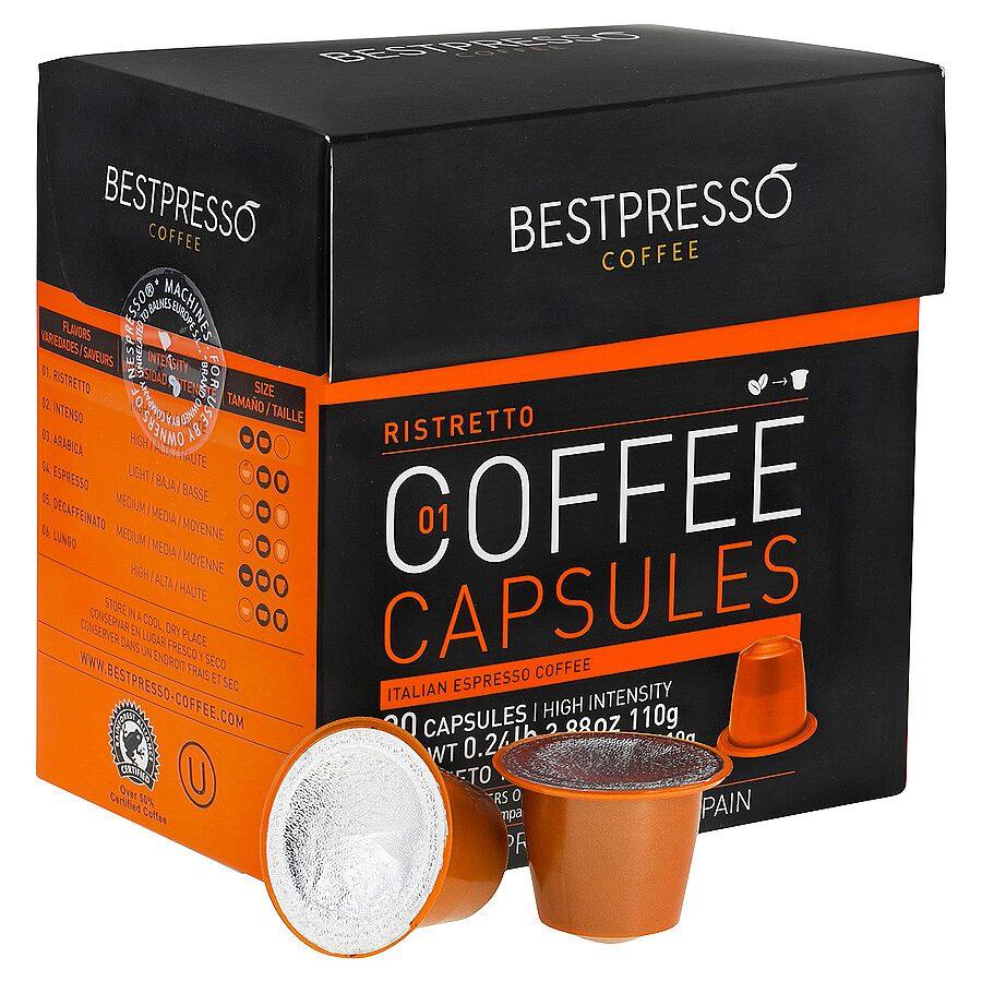 20 bestpresso nespresso compatible gourmet coffee capsules nespresso pods alternative. Black Bedroom Furniture Sets. Home Design Ideas