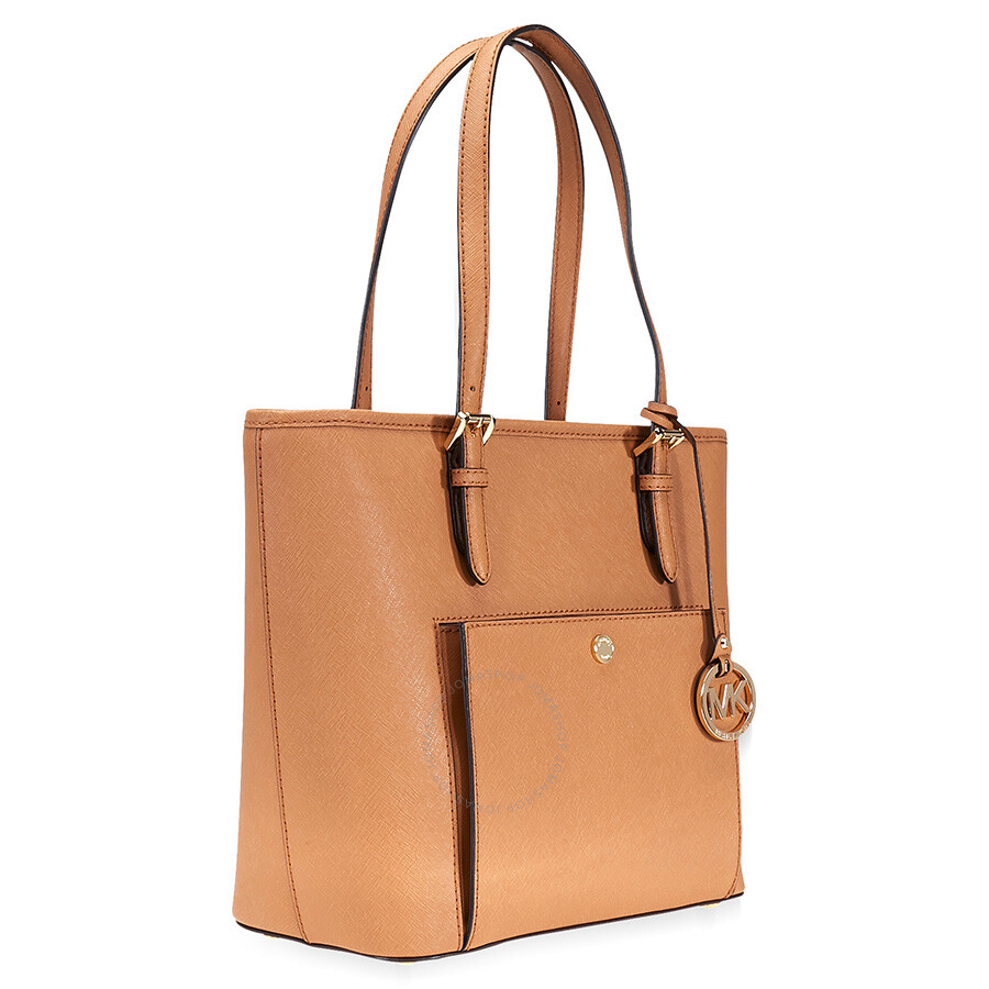 2599c9720279ba A Michael Kors Jet Set Travel Medium Saffiano Leather Tote - Acorn ...