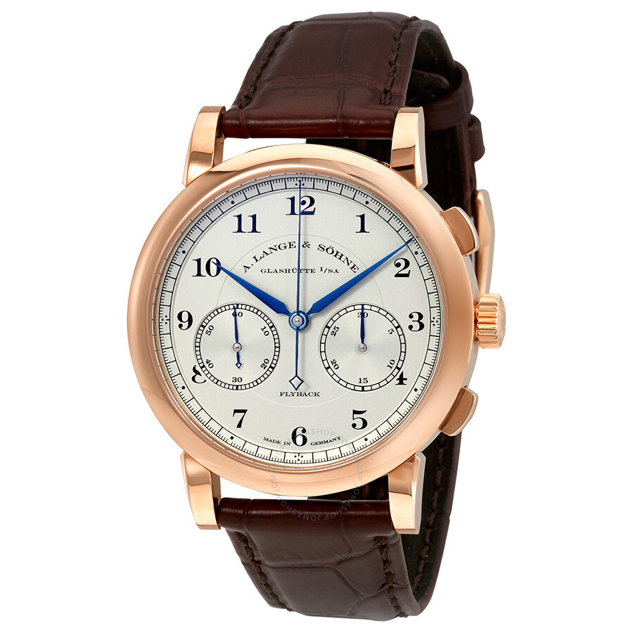 A. Lange and Sohne 1815 Chronograph Silver Dial 18K Rose ...
