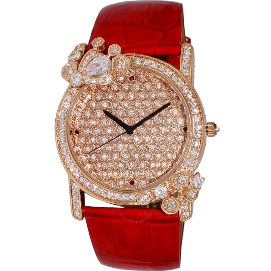Quartz Crystal Rose Gold Dial Ladies Watch AK2000-LRG