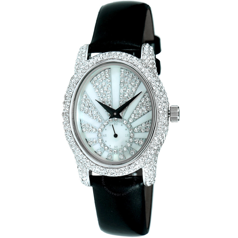 Quartz Crystal White Dial Ladies Watch AK2003-L