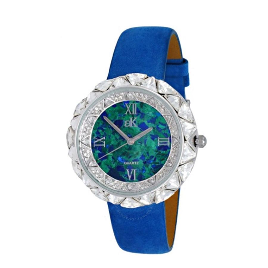 Beverly Hills Exotic Ladies Leather Watch AK9710-LBU