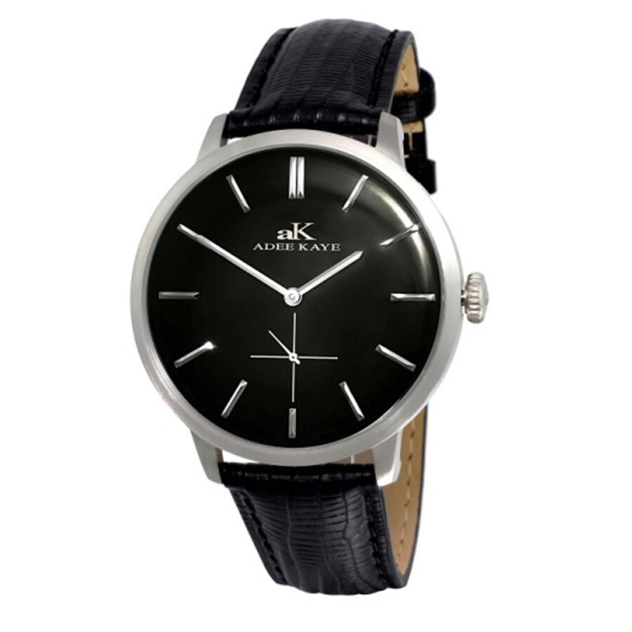 adee kaye classique black dial men 39 s watch ak2225 mbk adee kaye watches jomashop
