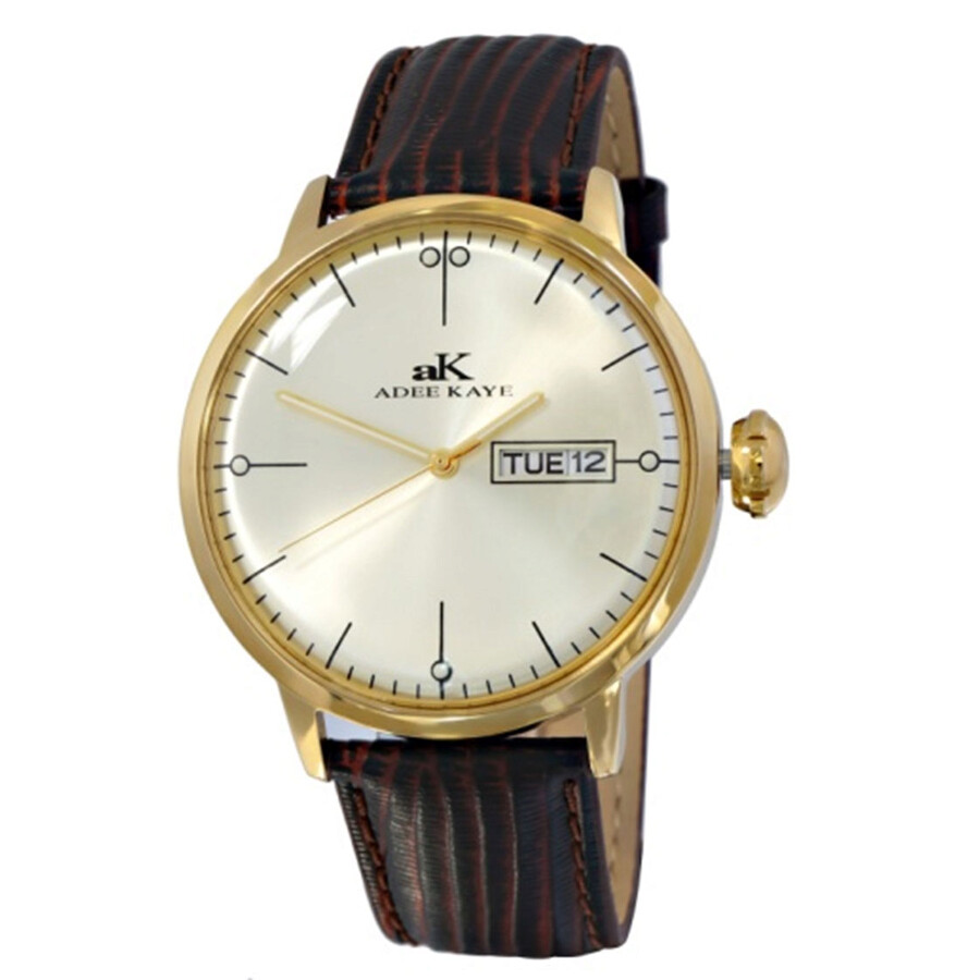 adee kaye vintage gold tone dial men 39 s casual watch ak2226 mg adee kaye watches jomashop