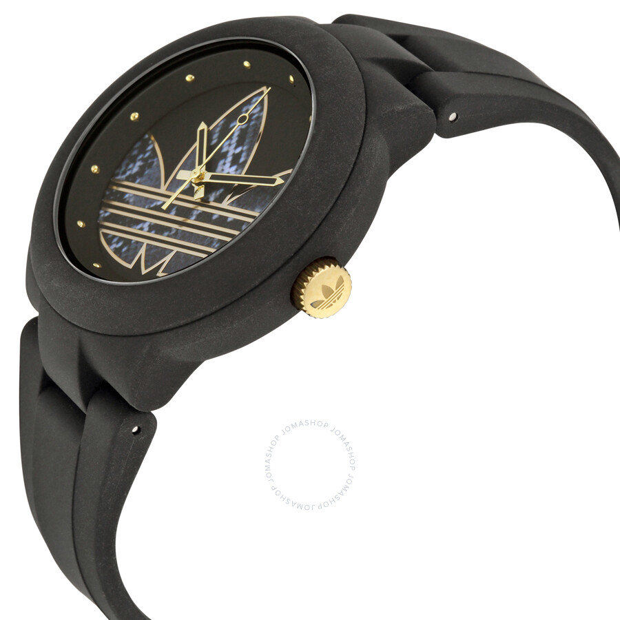 Black and Gold Adidas Watch