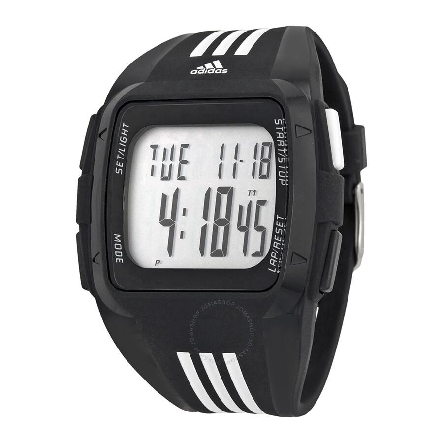 adidas duramo xl digital dial black rubber men s watch adp6089