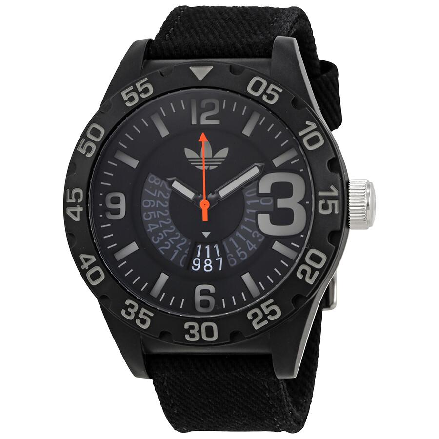 54a0d70a1b Adidas Newburgh Black Dial Men s Canvas Watch ADH3157 - Watches ...