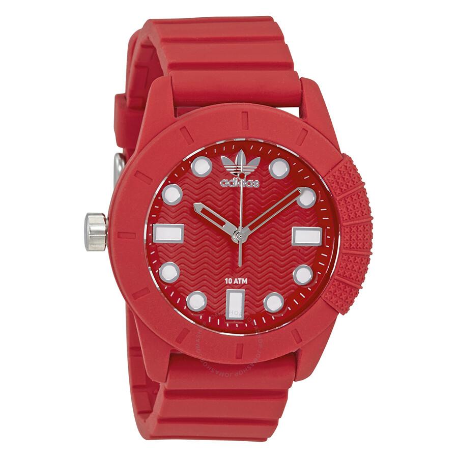 8c29ae484b Adidas Originals Red Dial Ladies Watch ADH3104 - Watches - Jomashop