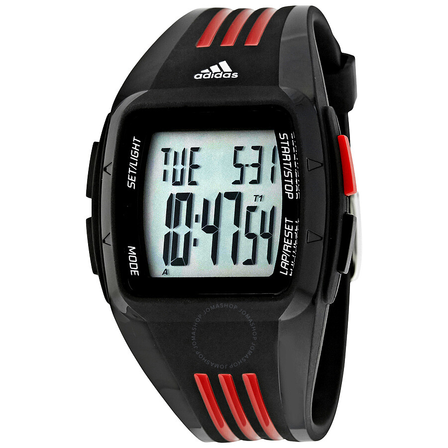 adidas performance black and red multifunction men s watch adp6098