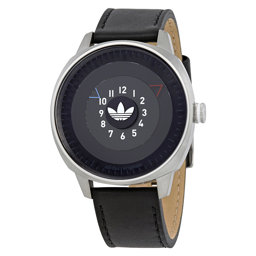 Adidas San Francisco Black Dial Black Leather Men s Watch Item No. ADH3126 496f97f12df
