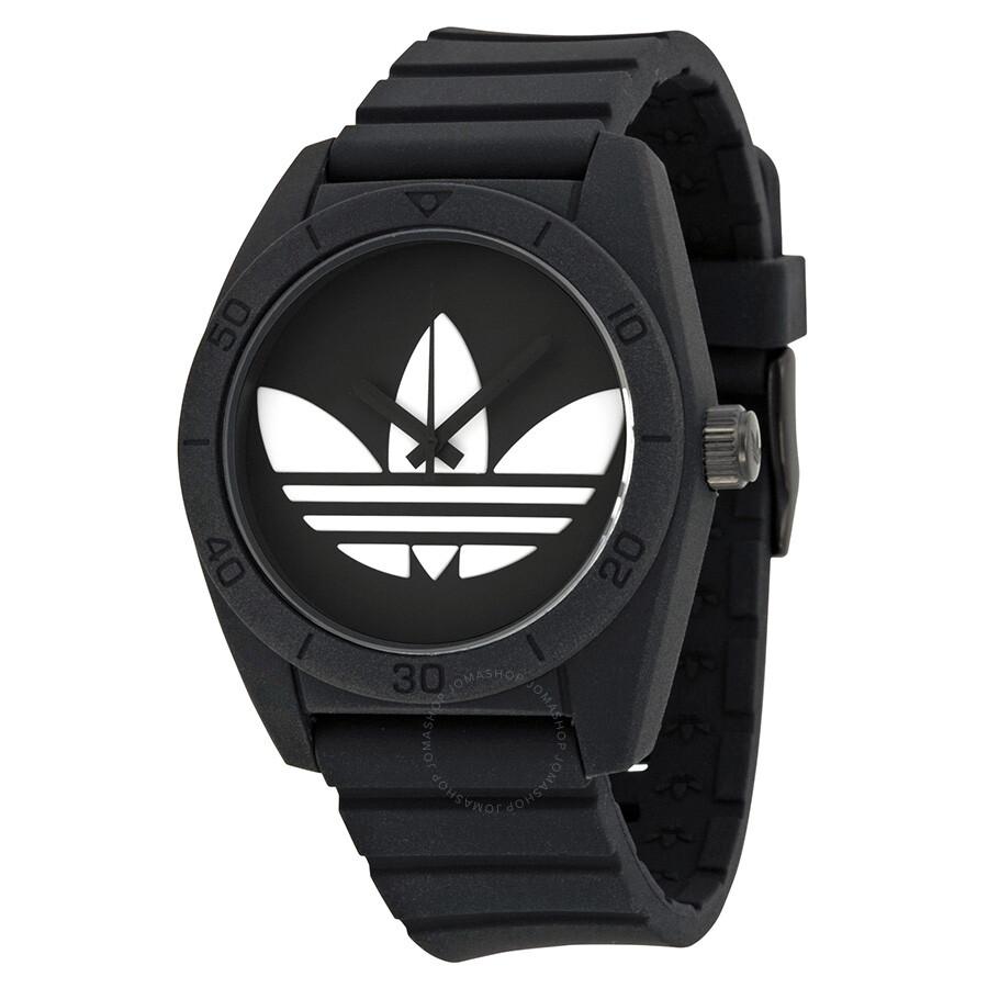 adidas watches jomashop adidas santiago black dial black silicone strap men s watch