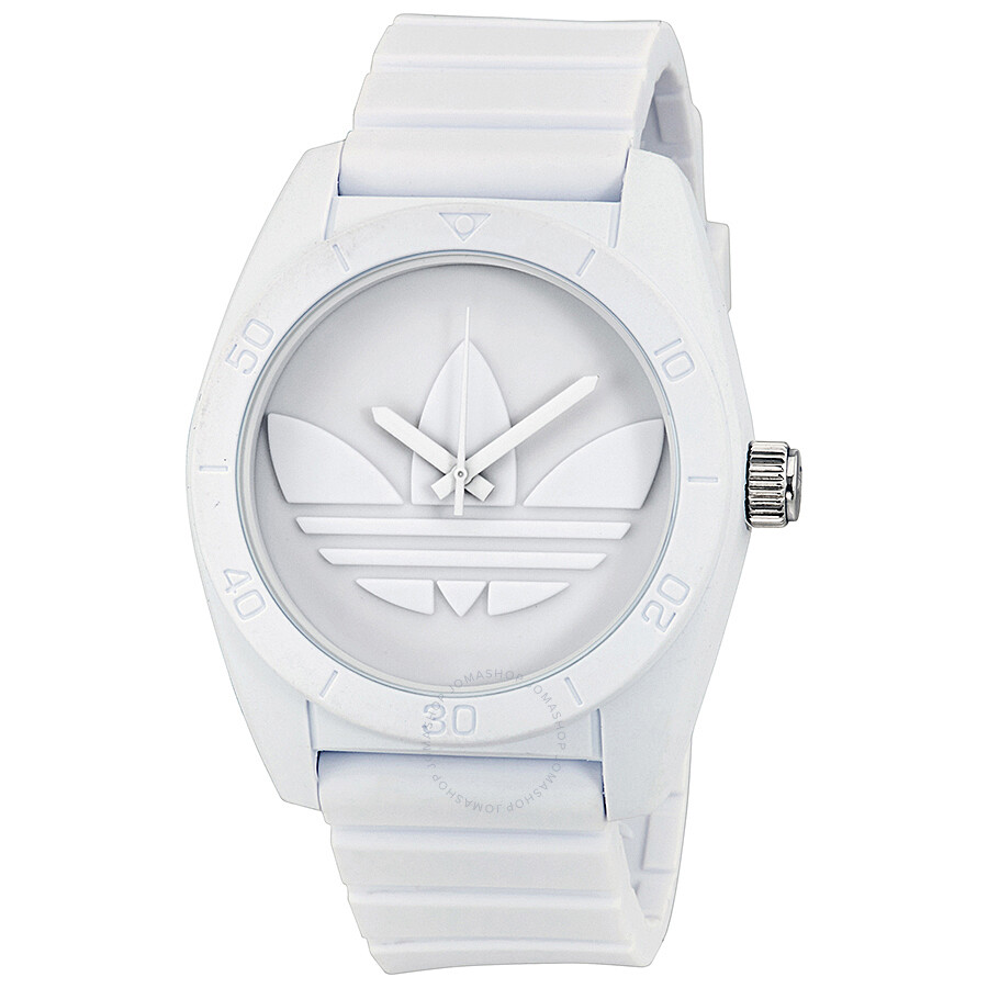adidas santiago white dial white rubber strap men s watch adh6166