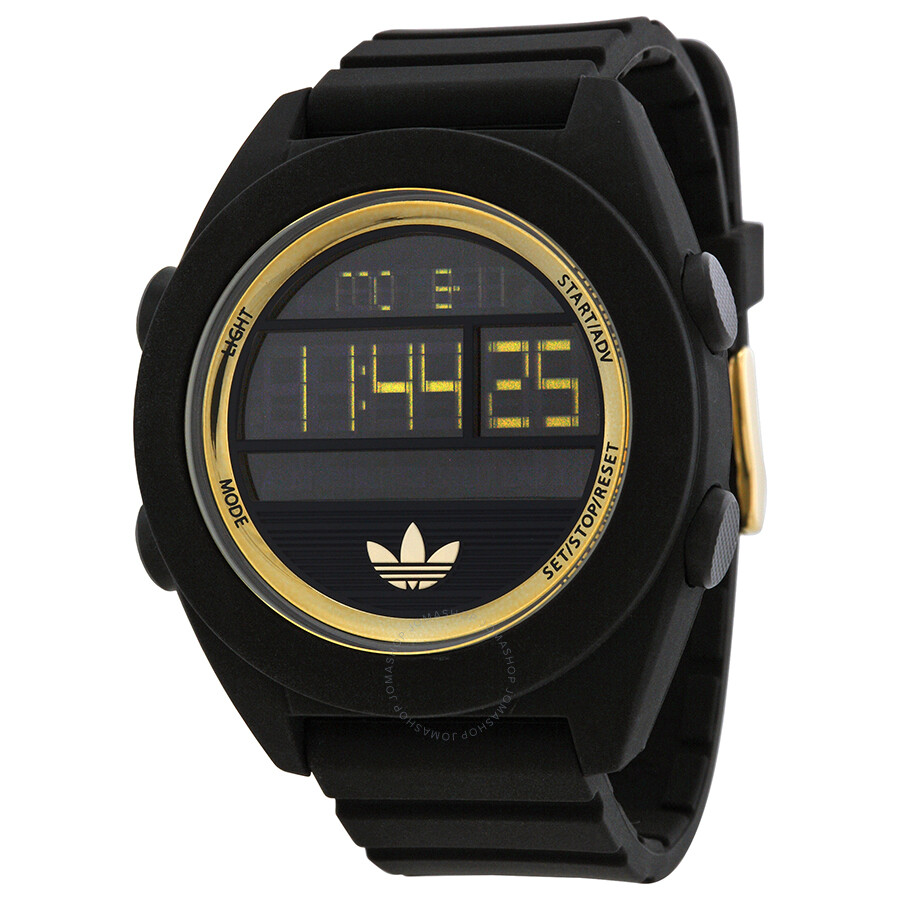 c79f6b63dff3 Adidas Santiago XL Digital Dial Black Silicone Strap Men's Watch ADH2911