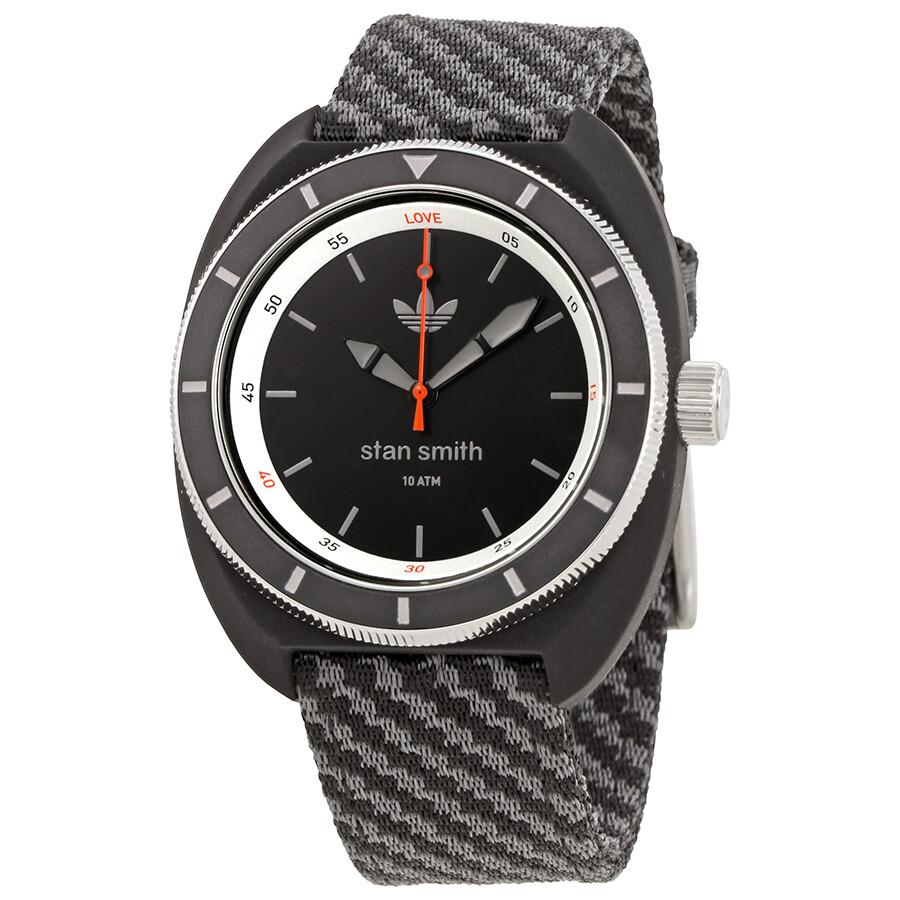 Adidas Stan Smith Black Dial Men\u0027s Two Tone Nylon Watch