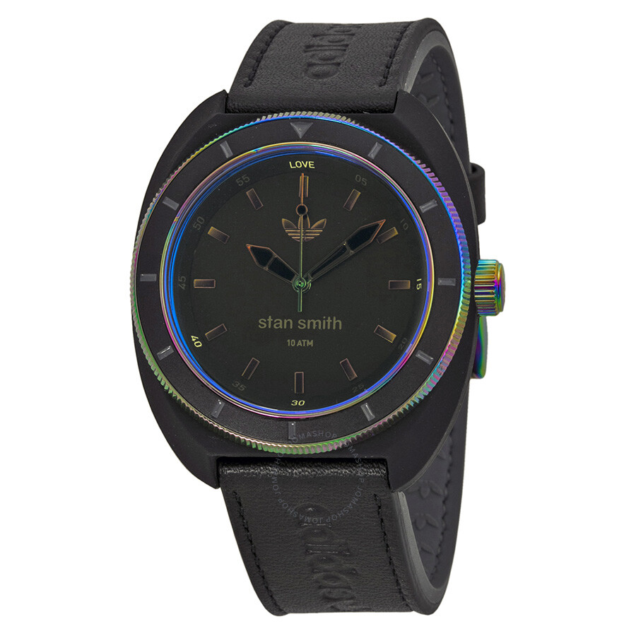 Adidas Stan Smith Iridescent Crystal Leather and Silicone Strap Men s Watch  ADH2956 ... 08b910c0b4