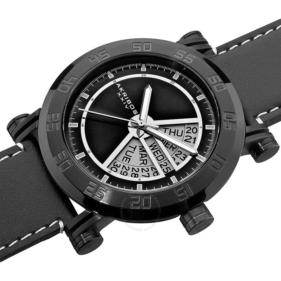 Akribos black pvd men 39 s watch ak552bk akribos xxiv watches jomashop for Akribos watches