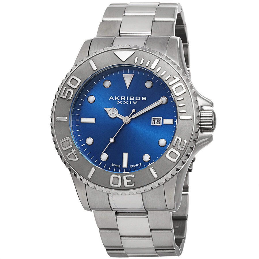 Akribos xxiv blue men 39 s watch ak674bu akribos xxiv watches jomashop for Akribos watches