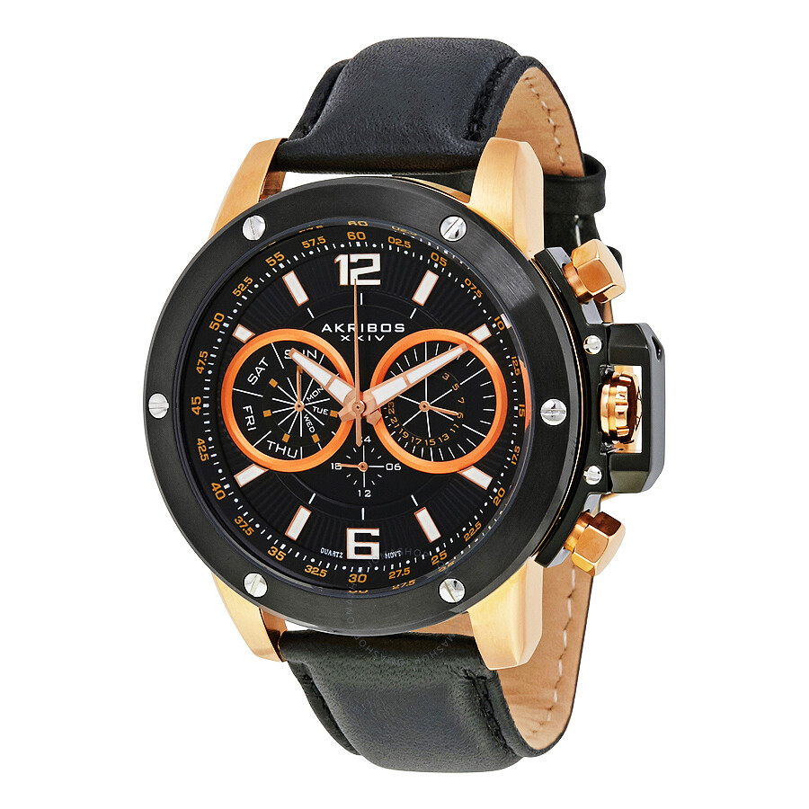Akribos xxiv conqueror men 39 s watch ak469rg akribos xxiv watches jomashop for Akribos watches