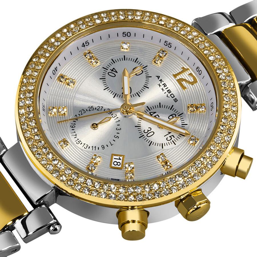 Akribos xxiv crystal ladies watch ak529tt akribos xxiv watches jomashop for Crystal ladies watch