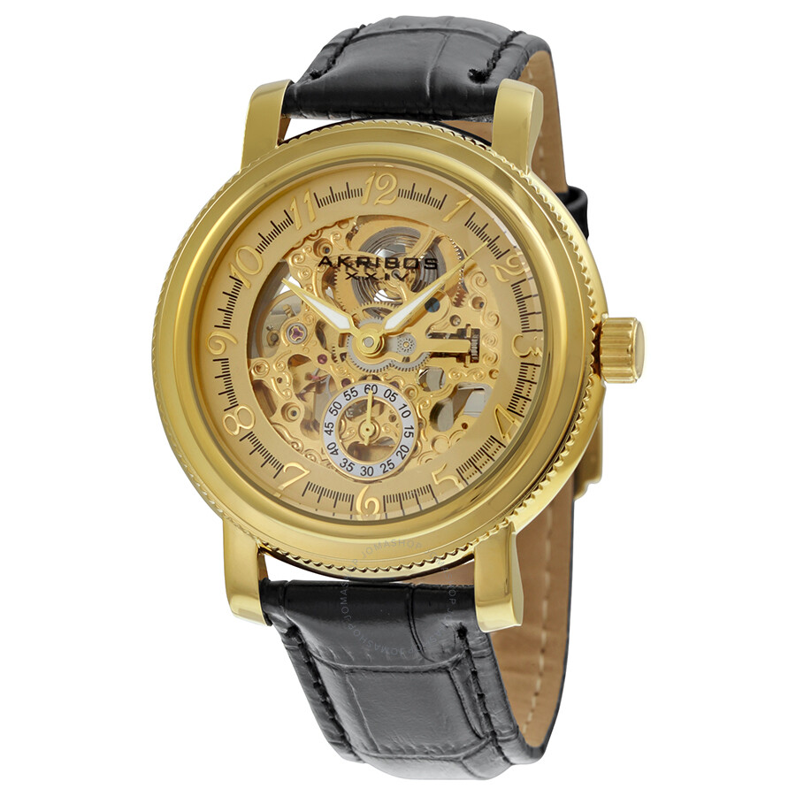 akribos xxiv gold tone men 39 s watch ak634yg akribos xxiv watches jomashop