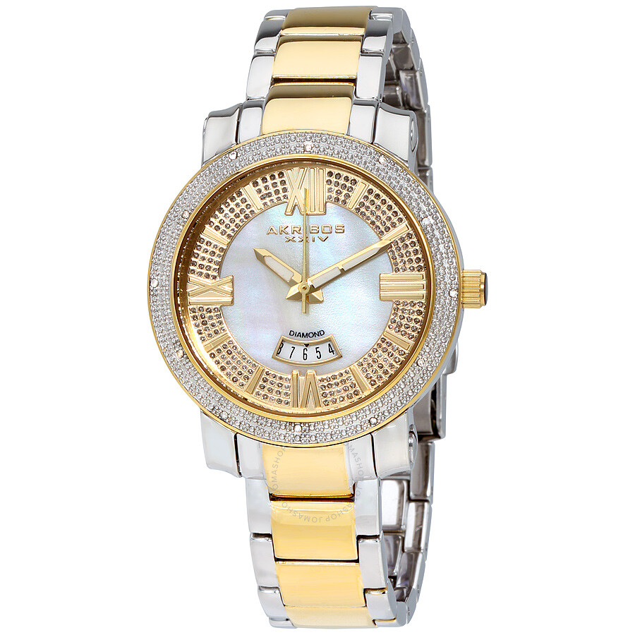 Akribos xxiv grandiose ladies watch ak507tt akribos xxiv watches jomashop for Akribos watches
