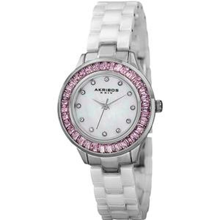Mother of Pearl Dial Quartz Ladies Watch AK781WTP