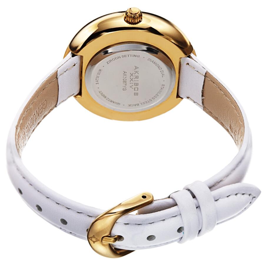 Quartz Diamond Gold Dial Ladies Watch AK1067YG