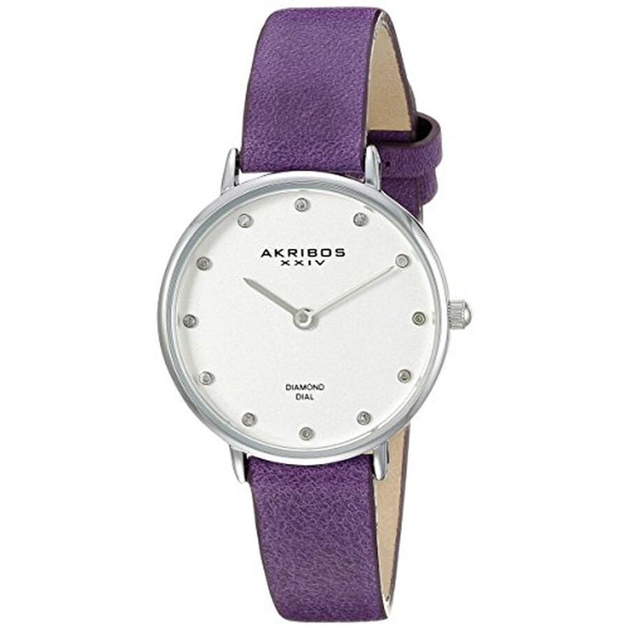 Quartz Diamond Silver Dial Ladies Watch AK882PU