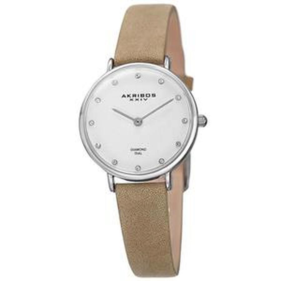 Quartz Diamond White Dial Ladies Watch AK882WT