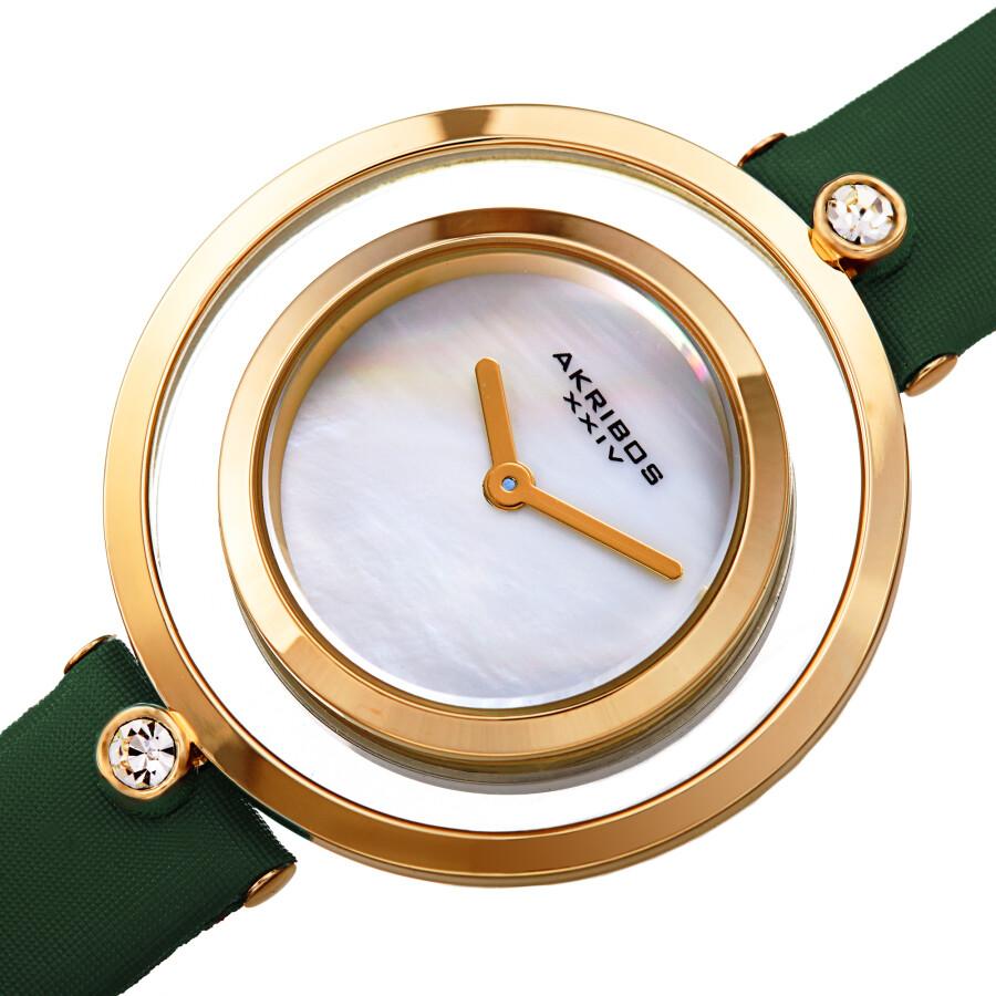 Quartz White Dial Ladies Watch AK1060GN