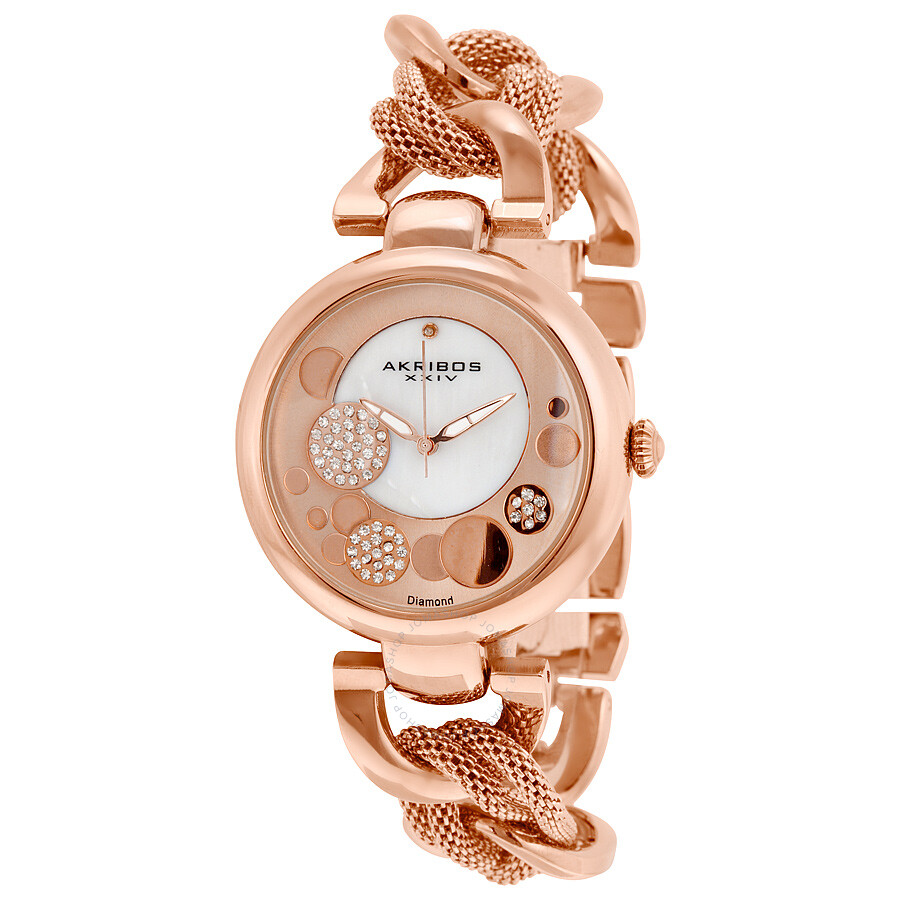 Akribos xxiv rose gold tone ladies watch ak643rg akribos xxiv watches jomashop for Akribos watches
