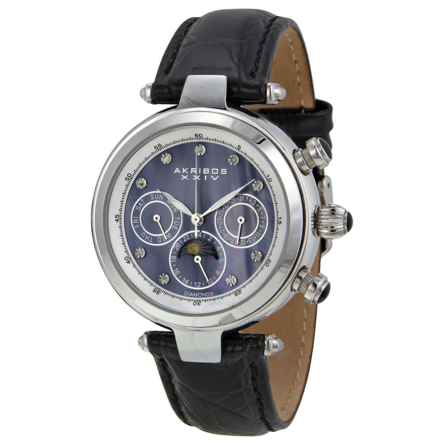 Akribos xxiv ultimate ladies watch ak441bk akribos xxiv watches jomashop for Akribos watches