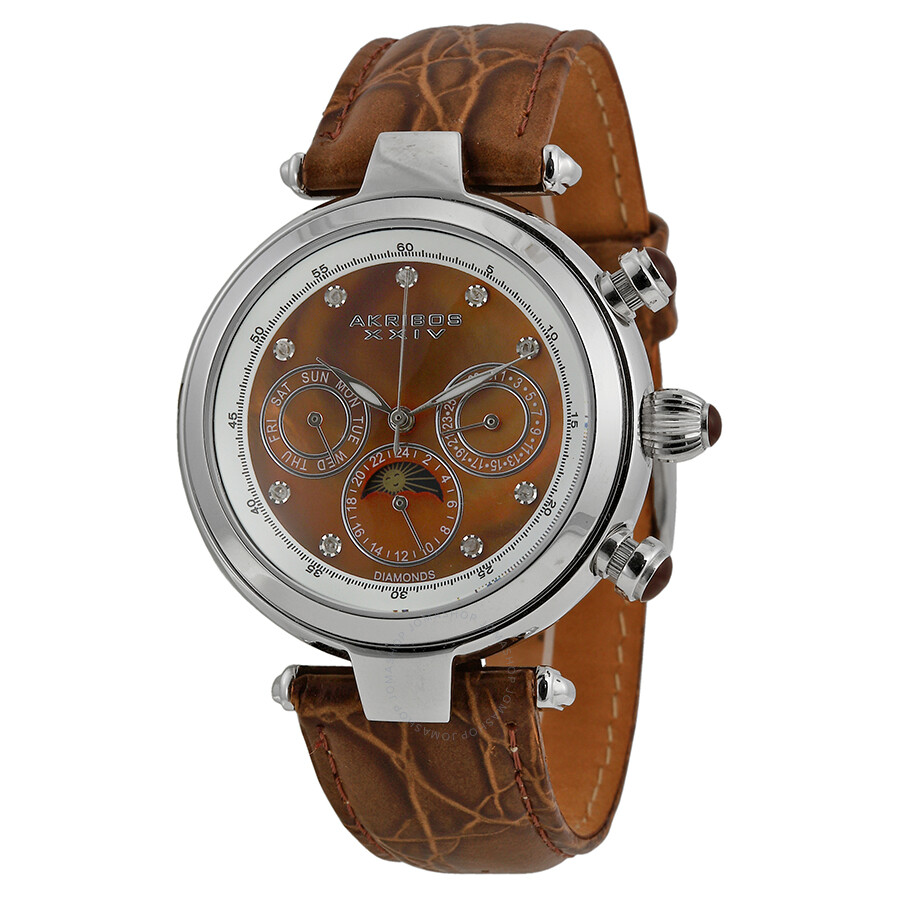 Akribos xxiv ultimate ladies watch ak441br akribos xxiv watches jomashop for Akribos watches