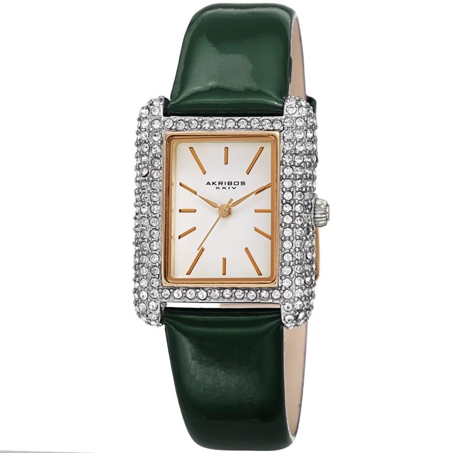 Quartz Crystal White Dial Ladies Watch AK1068GN