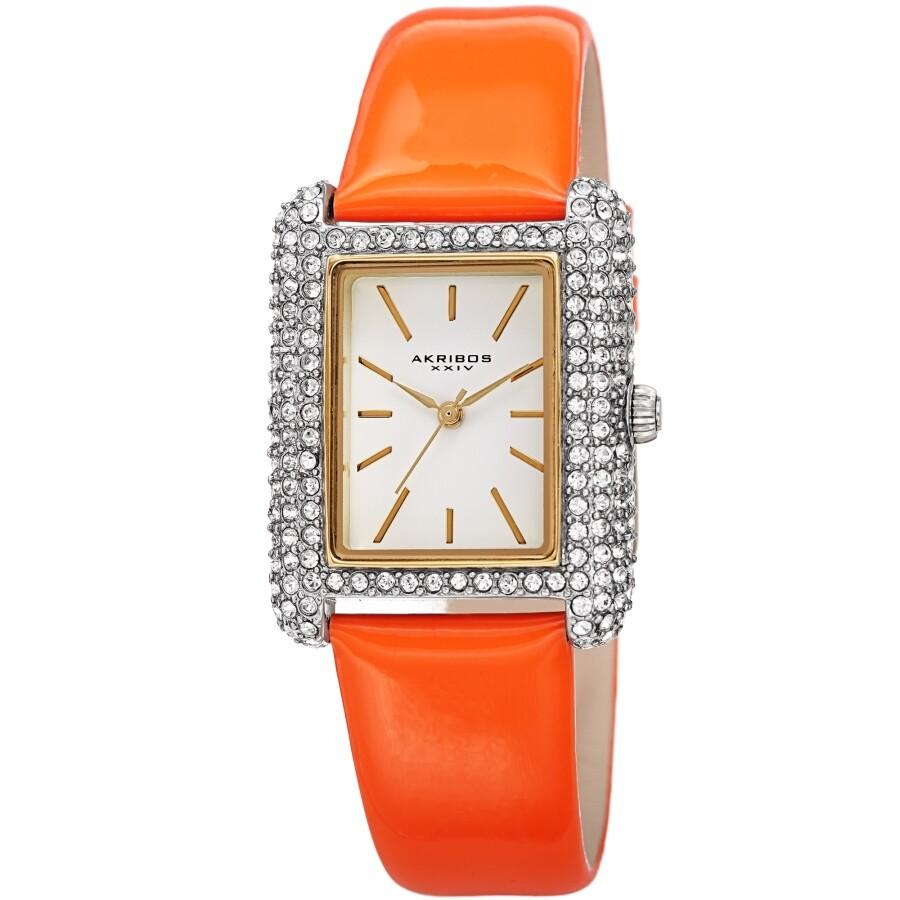 Quartz Crystal White Dial Ladies Watch AK1068OR