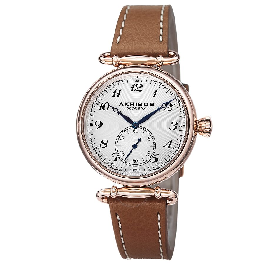 Akribos xxiv white dial rose gold tone ladies watch ak704br akribos xxiv watches jomashop for Akribos watches