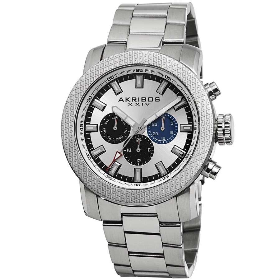 Akribos xxiv white men 39 s watch ak684ss akribos xxiv watches jomashop for Akribos watches