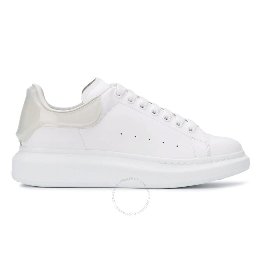 Oversized Heel Leather Sneakers