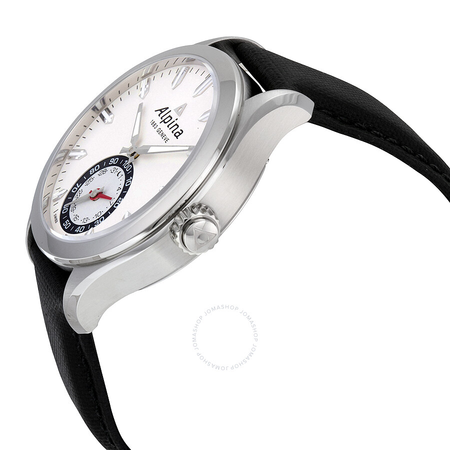 Leather Gmbh Contact Us Email Sales Mail: Alpina Horological Smartwatch Silver Sunray Black Leather