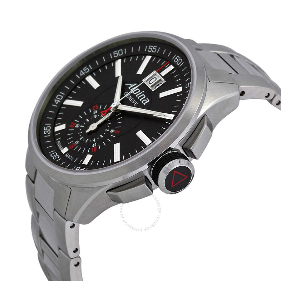 alpina racing chronograph black dial men 39 s watch. Black Bedroom Furniture Sets. Home Design Ideas