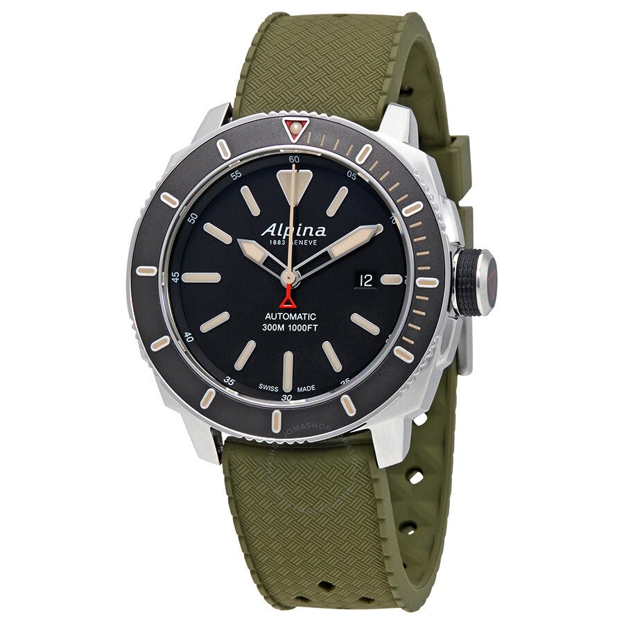 Alpina Seastrong Diver 300 Automatic Men's Watch 525LGG4V6 ...