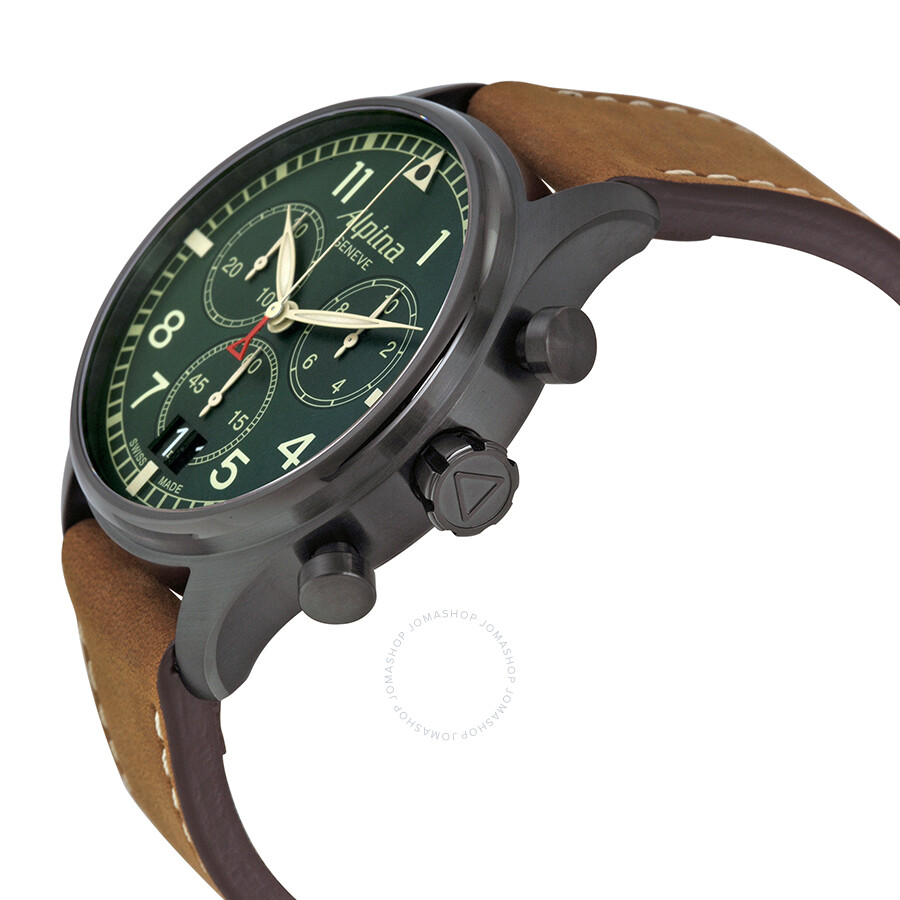alpina startimer pilot chronograph green dial men 39 s watch al 372gr4fbs6 startimer alpina. Black Bedroom Furniture Sets. Home Design Ideas