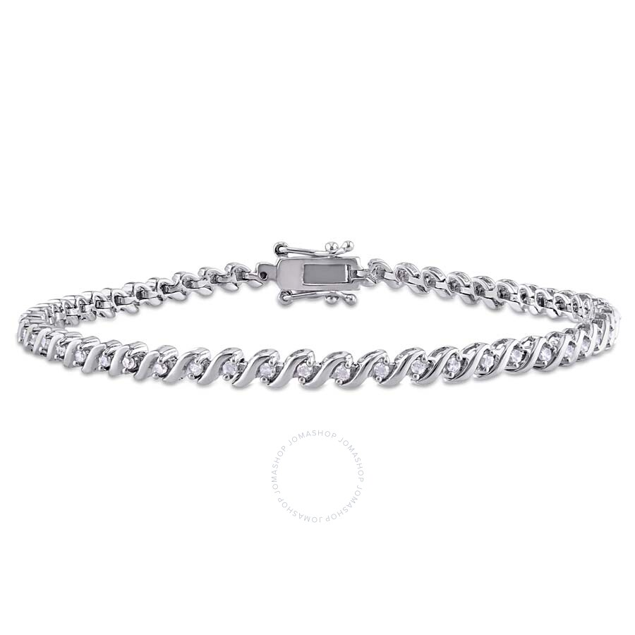 Amour 1 2 Ct Tw Diamond S Shape Tennis Bracelet In